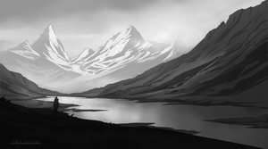 B and W study by HazPainting
