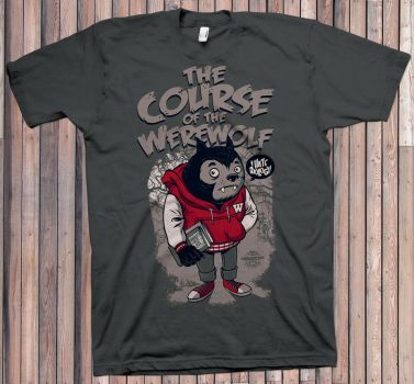 The Course of the Werewolf Tee by Rusc
