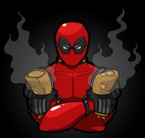 Deadpool shirt! by The-Other-Owl