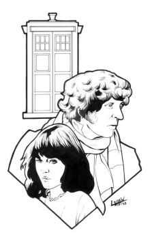 4th Doctor and Sarah Jane by stratosmacca
