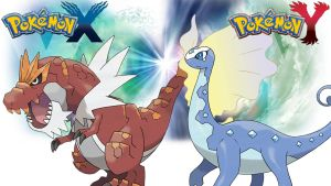 Pokemon X Y - Wallpaper - Tyrantrum and Aurorus