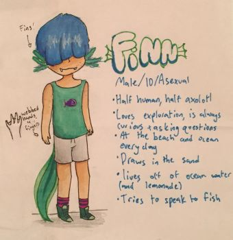 Finn character ref by ICD-and-Specimen3xx