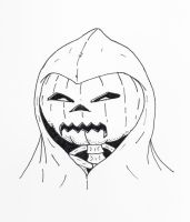 Pumpkin Mask by jamsketchbook