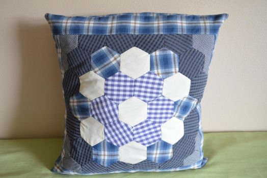 Patchwork cushion by eveningemma