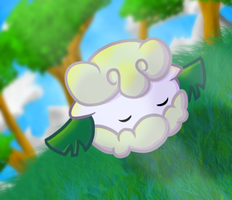 Sleeping Cottonee