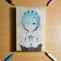 Rem woodart by Dhouringan