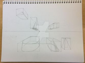 Perspective Practice: 3D Shapes by greenstar2001