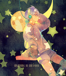 .: Listening to the moon :. | Speedpaint by Hoshi-Pan