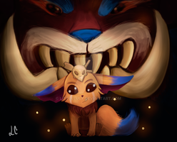 Gnar and  Mega Gnar by luly97
