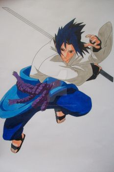 Sasuke Uchiha -colored- by SakakiTheMastermind
