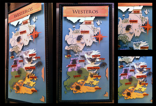 Shadowbox: Game of Thrones: Westeros Map by The-Paper-Pony