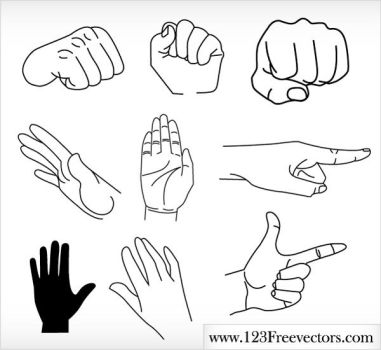 Free Vector Hands by 123freevectors