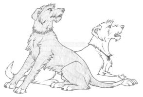 Madden and Archu by FlannMoriath