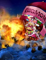 One Piece Chapter 900 Ending Sunny Explosed BigMom by Amanomoon