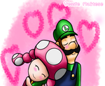 .:Dreamy:. Luigi X Toadette (AT With MACARTIST1) by YessieMaltese