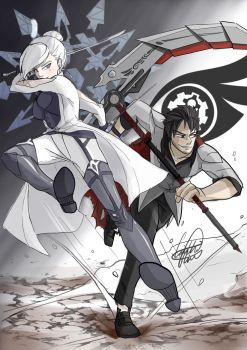 Qrow and Winter by CaitlinCrafts