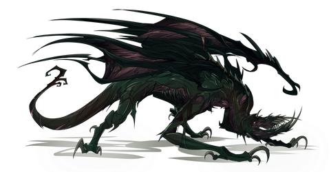 Pathfinder Monster (Rot Dragon) by Neuroticpig