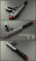 HK-scifi handgun / PDW by peterku