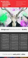 30 Low-Poly / Polygonal Photoshop Brushes #2 by RoundedHexagon