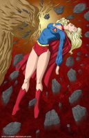 Supergirl vs Clayface 1 -commi by mhunt