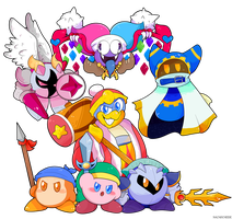 Kirby and the gang by Nacho-Cheese1