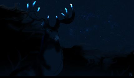 The Deer In The Night by dyb