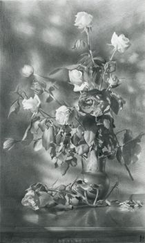 Still Life with Roses by DChernov