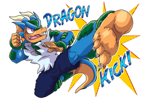 Dragon Kick by yuski