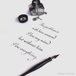 I Lose Everything - Calligraphy Quote by WhiteSylver