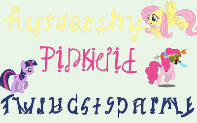 Mane Six Ambigrams Part Two by Henry-Crun