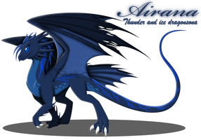 Dragon OC: Airana Stormrider by auveiss
