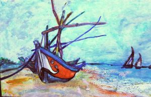 Van Gogh's Fishing Boats on the Beach  by Architect-Gillesania