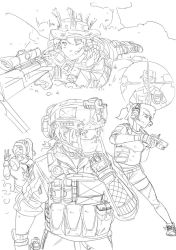 Collage of weeby tactical things by Michiragi