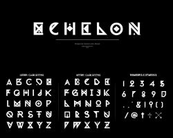 ECHELON Glyph Set by crymz