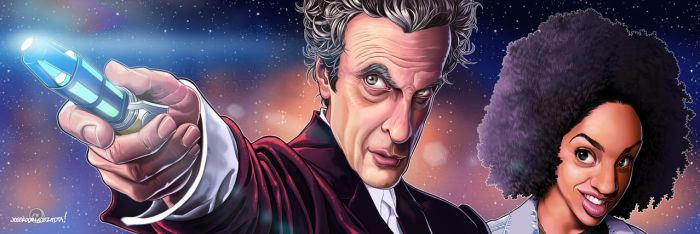 12th Doctor and Bill by JOSERODMOTA