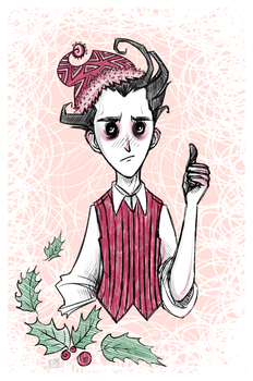 don't starve: christmas!wilson by maryallen138