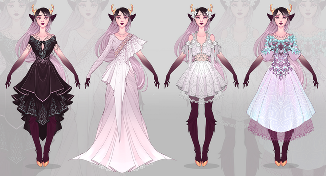 Custom outfits for nessuhime by larighne