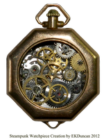 Ladies Steampunk Timepiece from Vintage Parts by EveyD