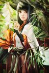 A Shinto Miko in Woods by cursedapple