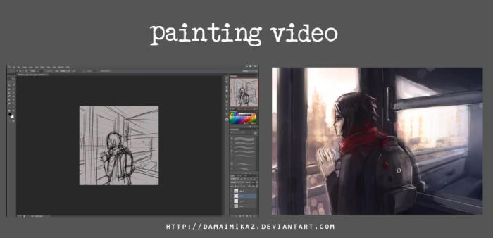 [Video] Timelapse painting - Metro by DamaiMikaz