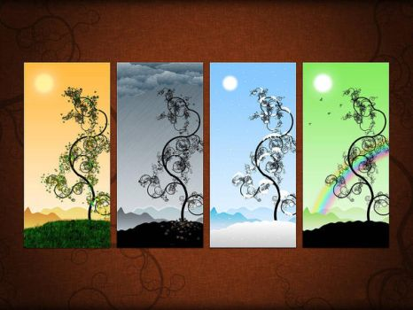 The Four Elements Of Nature by GentlemanGezzy