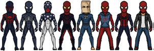 Spider-Man 2000 costumes by SpiderTrekfan616