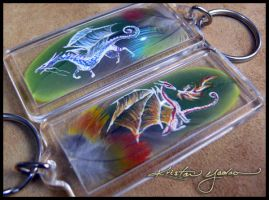 Feather Keychains 24,25 by dittin03
