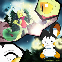 Pokemon Fan Art Treecko-Emolga