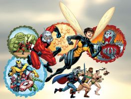 Marvel Universe: Ant-man and Wasp by bennyfuentes
