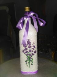Bottle decoupage by Escapist89