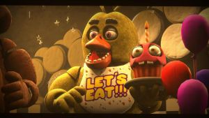 Chica the Chicken [REDO] (fnaf sfm) by JR2417