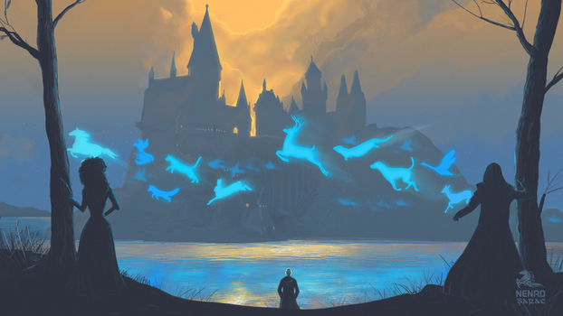 Battle for Hogwarts - He will come to me! by nenadsarac