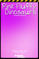 Pink Fluffy Dinosaurs by sketched-dreams