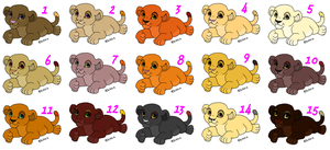 Free Female Cubs Adoptables - CLOSED - by Soufroma